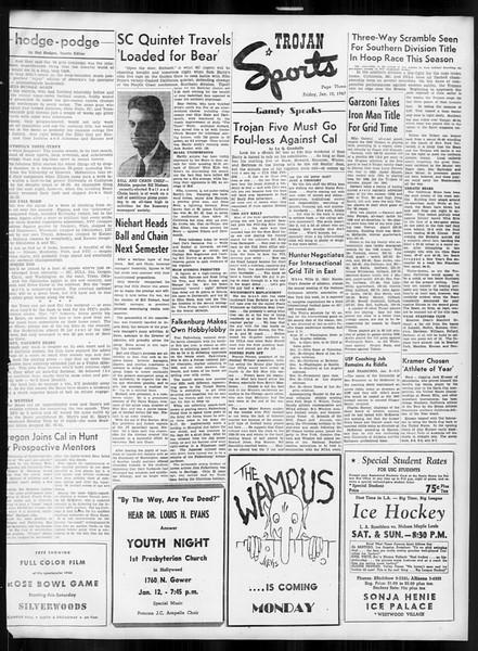 Daily Trojan, Vol. 38, No. 70, January 10, 1947