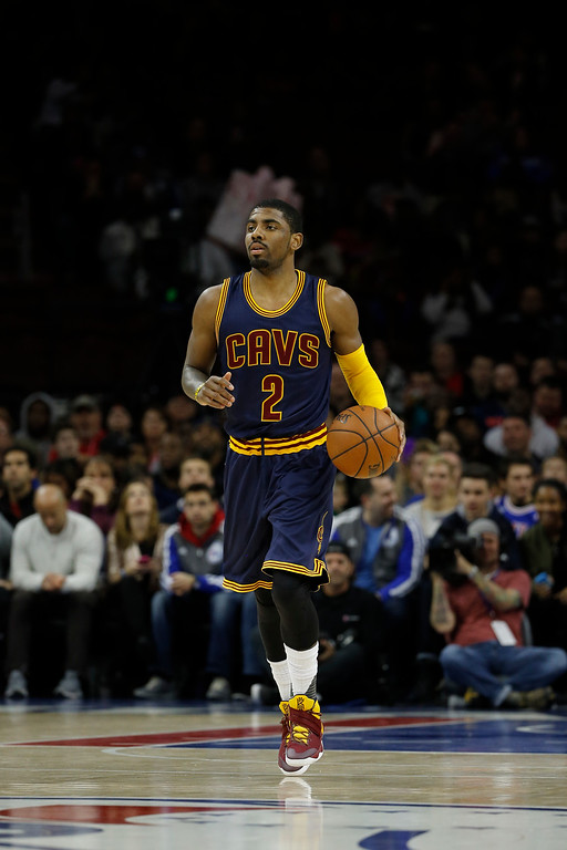 . Cleveland Cavaliers\' Kyrie Irving in action during an NBA basketball game against the Philadelphia 76ers, Sunday, Jan. 10, 2016, in Philadelphia. (AP Photo/Matt Slocum)
