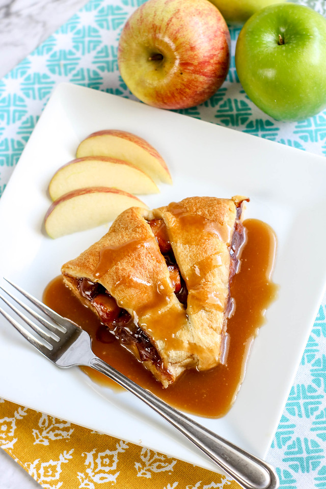 This yummy Apple Pie Crescent Ring recipe has seasonal ingredients, and ones you'll find right at home, and will be the hit of any autumn party or gathering