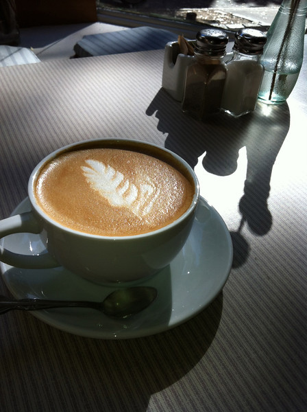 My favorite coffee den in Brooklyn Heights, the Iris Cafe