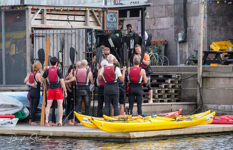 Kayak group getting ready