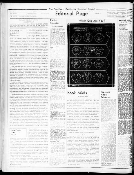 Summer Trojan, Vol. 17, No. 11, July 29, 1938