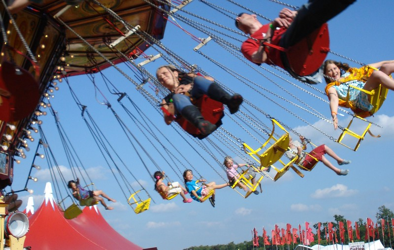 Jessie flying high at womad.JPG