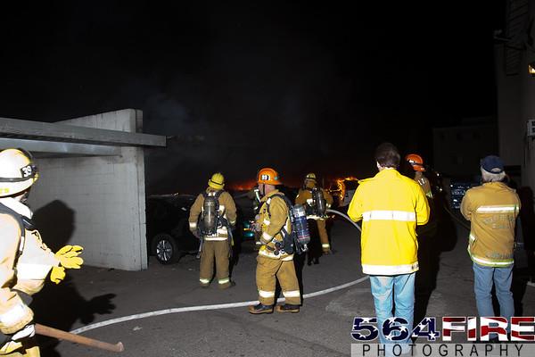 LAFD - Arson Fire - 1-2-12