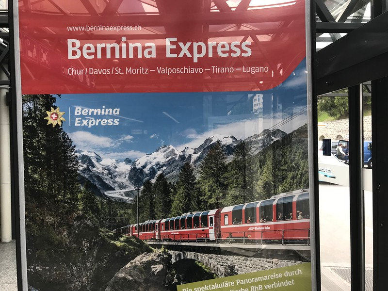 We're going to ride the Bernina Express from St. Moritz to Tirano!