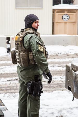 militarized police at super bowl
