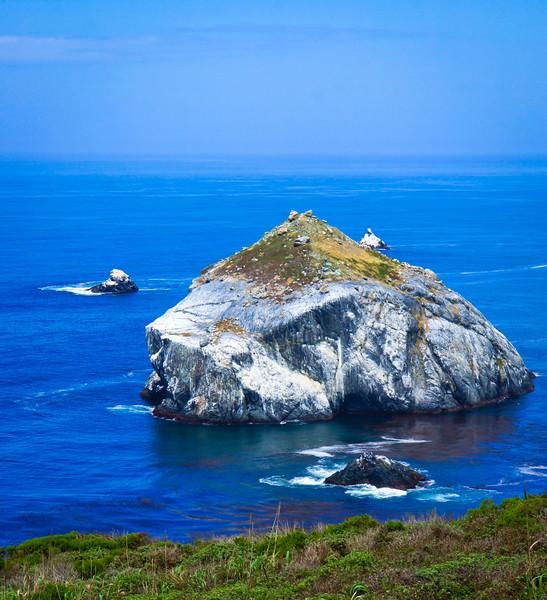 Pacific Coast Highway rock island
