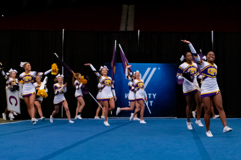 Broughton cheerleading Pre-States. November 16, 2019. D4S_1672