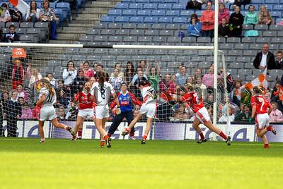 Armagh beat the Cork Keeper Elaine Harte. 06W40N257