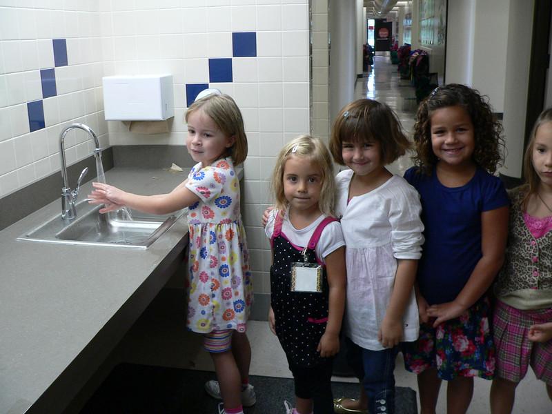 students using new bathrooms.JPG