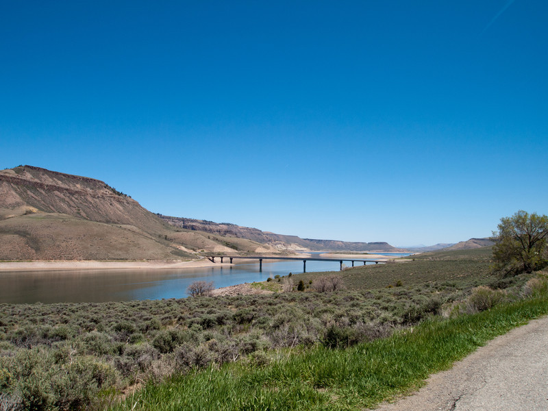 The middle bridge on the Blue Mesa Reservoir