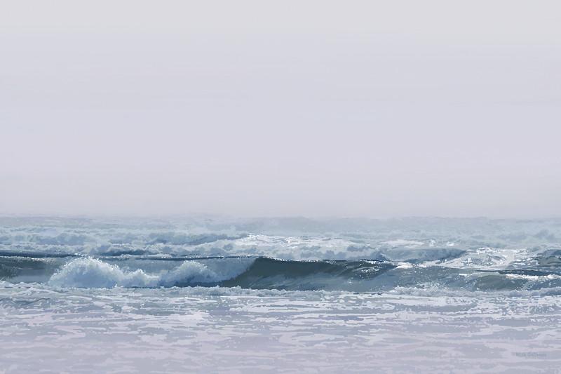 Ocean Surf in Fog