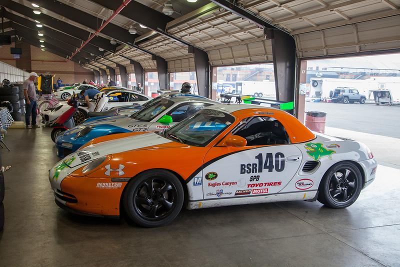 1999 Porsche Boxster waits in the garage