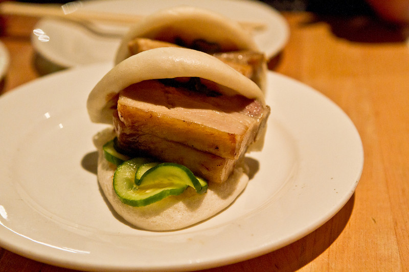 Momofuku Pork Bun. I can have three orders of this (or maybe 2, making it 4 buns), and I'm in food come heaven.