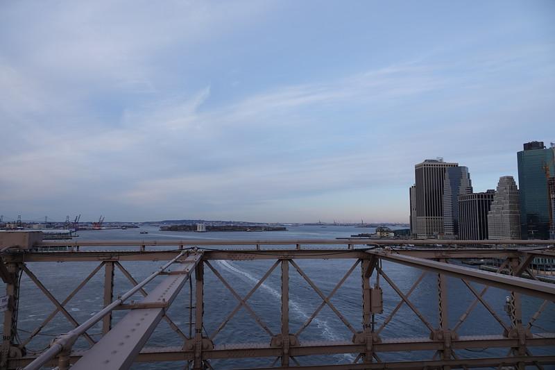 Towards Governor's Island from Brooklyn Bridge.