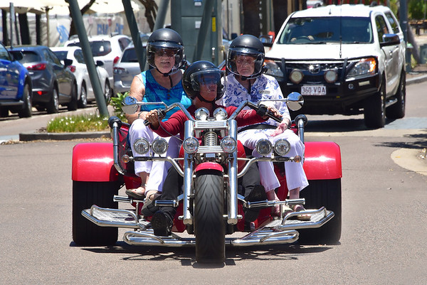 May Fowler's  97th Birthday - Dec 19 2017, Harley Trike Joy Ride, Townsville.