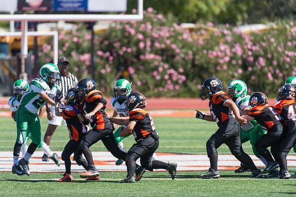 Roseville Jr Tigers Jr Pee Wee vs San Joaquin 9-26-15