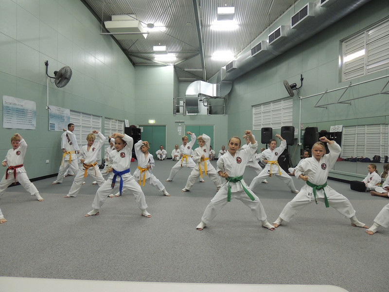 Combat Karate Noosa Junior Class Students in action during the Grade Belt Assessment! WELL DONE all of you!