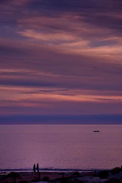 Seacliff Beach sunset.