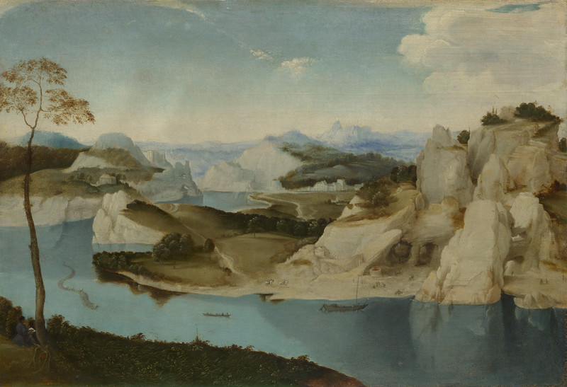 Landscape: A River among Mountains