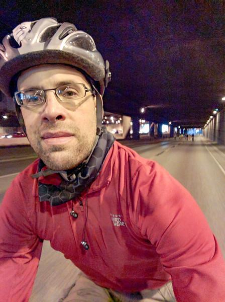 selfie in the Express Lane tunnels near downtown.