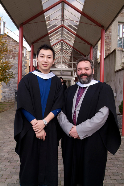 Hao Yang Liu and Jim Kehoe from Gorey, Co.Wexford, both conferred with BSc in Architectural Technology at Waterford Institute of Technology. (pic-photozone)