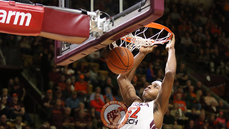 Zach LeDay dunks the ball home near the end of the game. (Mark Umansky/TheKeyPlay.com)