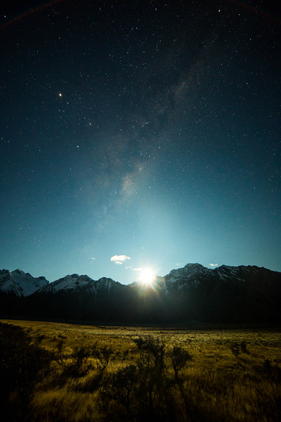 Monlight and the Milky Way
