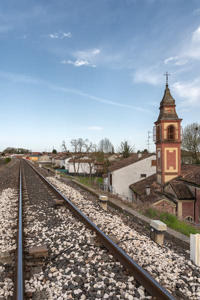Parma-Suzzara Railway - Guastalla, Reggio Emilia, Italy - April 8, 2018