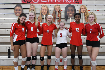 Homestead VBall v Slinger Senior night 9Oct18