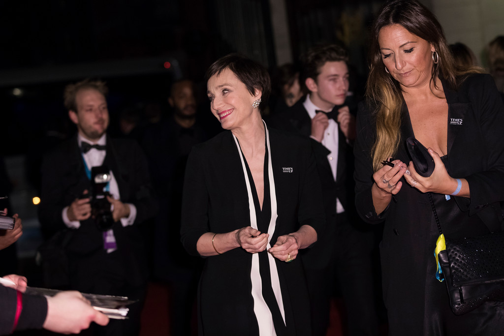 . Kristin Scott Thomas poses for photographers upon arrival at the BAFTA Film Awards after-party, in London, Sunday, Feb. 18, 2018. (Photo by Vianney Le Caer/Invision/AP)
