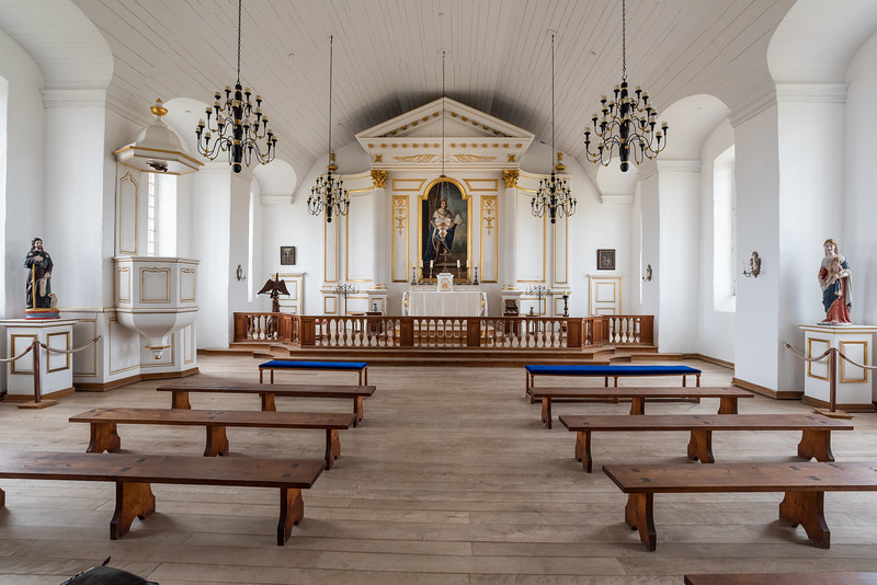 the chapel at Fortress of Louisbourg