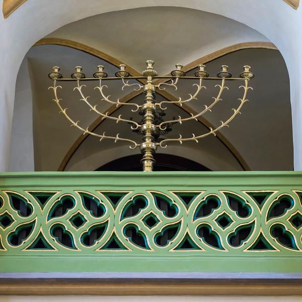 Menorah in Maisel Synagogue, Prague, Czech Republic