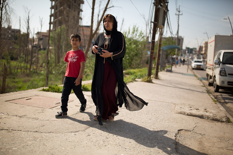 Mother and child on Bohan Street in Duhok, Iraqi Kurdistan.