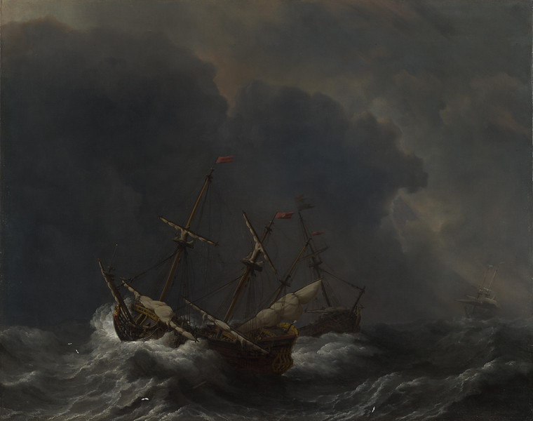 Three Ships in a Gale