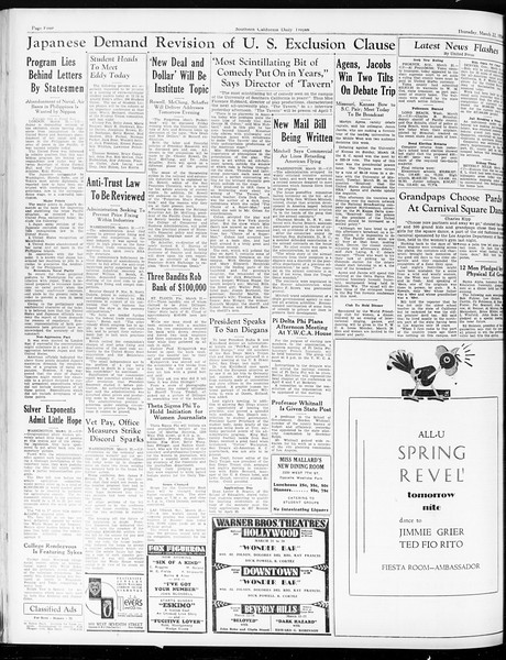 Daily Trojan, Vol. 25, No. 102, March 22, 1934