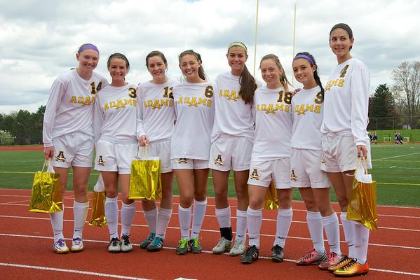 Adams Soccer Senior Day 2014