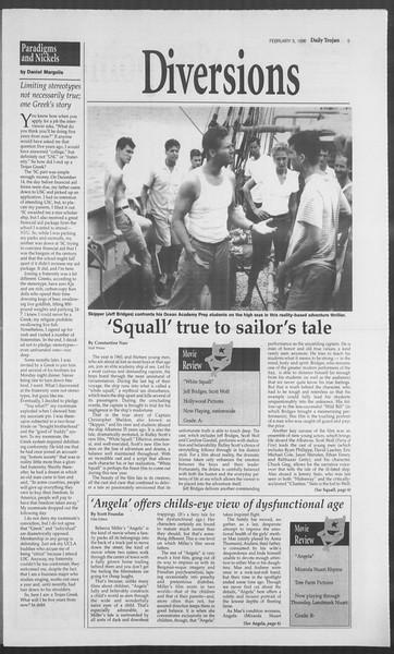 Daily Trojan, Vol. 127, No. 16, February 05, 1996