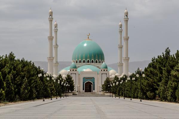 Saparmurat Mosque and Main Mosque, Ashgabat- Turkmenistan