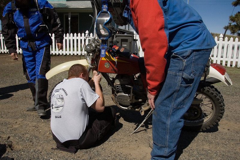 The Bultaco started having ignition problems in Douglas last year and had to turn back.