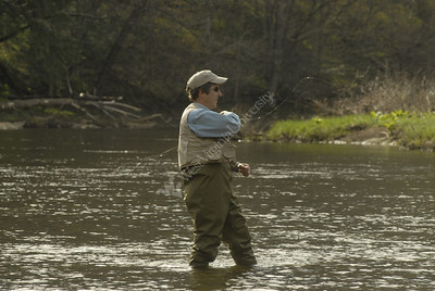 24670 Chris Plein fly fishing on Casselman