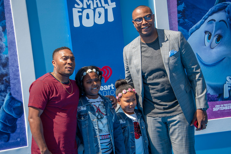 WESTWOOD, CA - SEPTEMBER 22:Caron Butler and guests arrive at the Premiere Of Warner Bros. Pictures' 'Smallfoot' at Regency Village Theatre on Saturday, September 22, 2018 in Westwood, California. (Photo by Tom Sorensen/Moovieboy Pictures)
