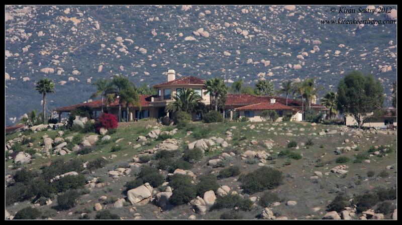 House on the hill near Lake Jennings, San Diego County, California, January 2012