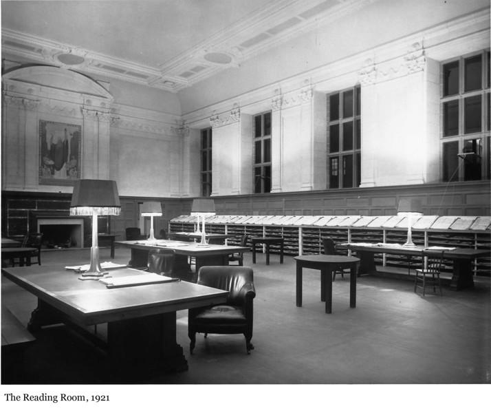 The Reading Room - La salle de lecture, 1921