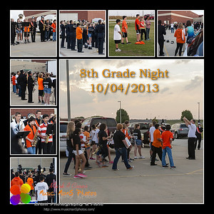 8th Grade night before the game 2013