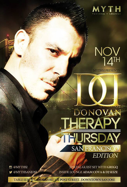 Therapy Thursdays w/ Donovan @ Myth Taverna & Lounge 11.14.13