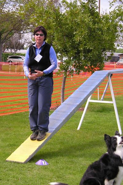 Moe Strenfel standing on dogwalk