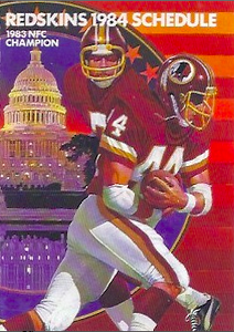 1984 Redskins Frito Lay Schedules