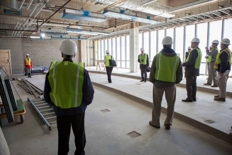Description of . A 200-seat auditorium on the first floor is flooded with natural light. (Photo by Jason Willis/Oakland University)