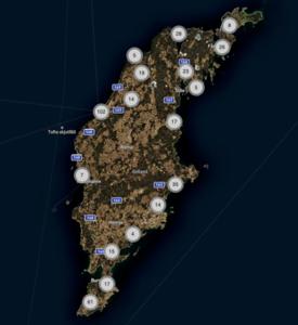 Map - Photo locations Fårö and Gotland